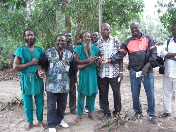 The Jah family and Malaki ma Kongo