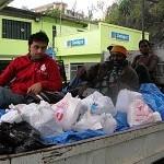 Départ pour l'arrière Haiti avec medecine et aliments