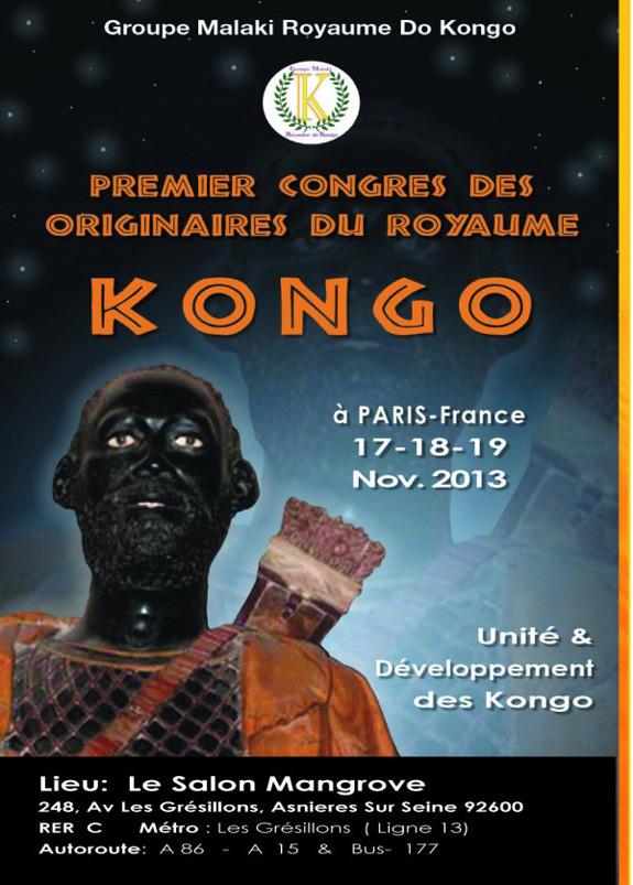 Affiche Finale 1er Congrès Kongo 2013