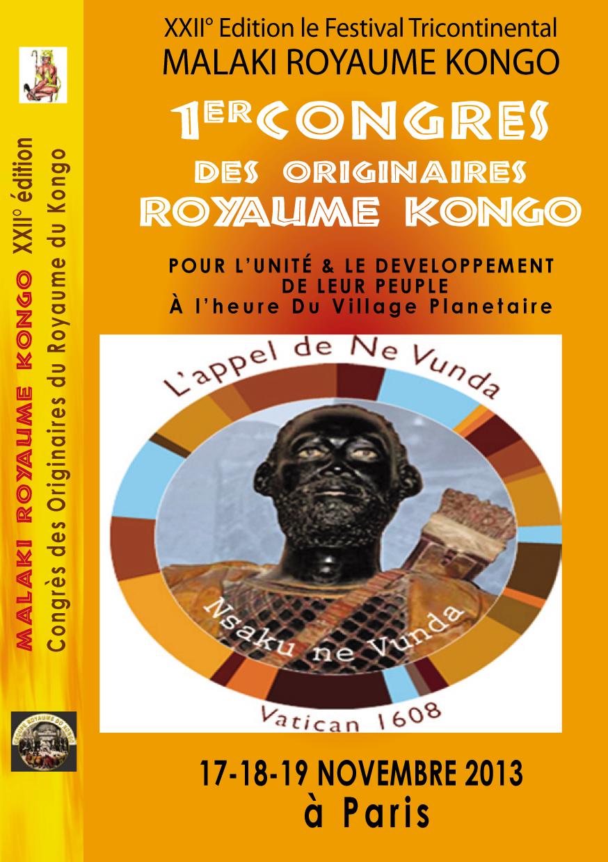 1er Congrès Malaki Royaume Kongo, dans le cadre de la XXII° Edition du Festival Malaki