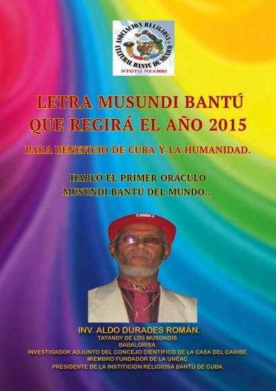 Letra Musundi Bantú Año 2015